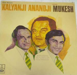 Kalyanji Anandji presents Mukesh a selection of Hindi Film Songs LP Vinyl Record www.mossymart.com