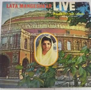 Lata Mangeshkar Live at London Hindi LP Vinyl Record www.mossymart.com