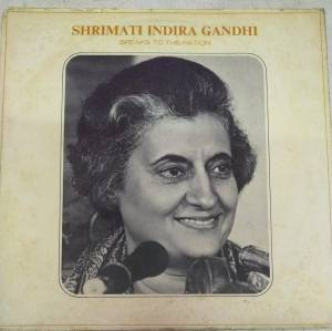 Shrimati Indira Gandhi Speaks to the Nation LP Vinyl Record www.mossymart.com