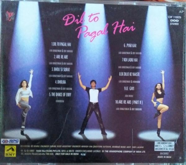 Dil To Pagal Hai - Hindi Audio CD by Anu Malik - www.mossymart.com
