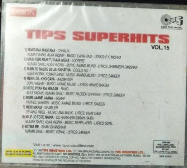 Tips Superhits Vol 15 Hindi Film hits Audio CD www.mossymart.com 1