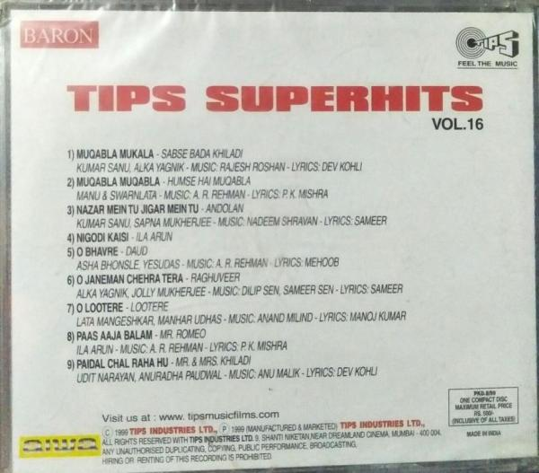 Tips Superhits Vol 16 Hindi Film hits Audio CD www.mossymart.com 2