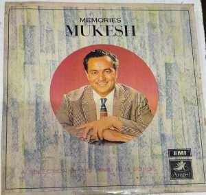 Memories Mukesh Hindi FIlm Hits LP VInyl Records www.mossymart.com 1