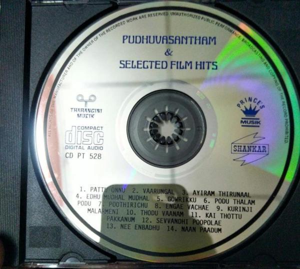 Pudhu Vasantham- Hits from tamil films Tamil Film Audio CD www.mossymart.com 1