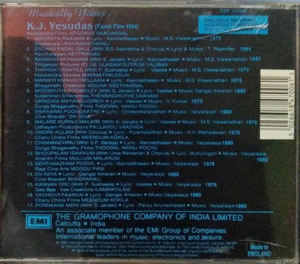 Tamil Film Hits Audio CD by K J Jesudass www.mossymart.com 1