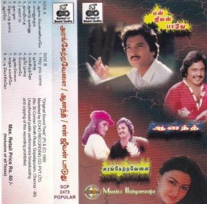 Arangetravelai- Anand - En Jeevan Paaduthu Tamil Film Audio Cassette by Ilaiyaraja www.mossymart.com 1