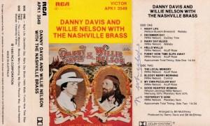 Danny Davis and Willie Nelson With The Nashville Brass English album Audio Cassette www.mossymart.com 1