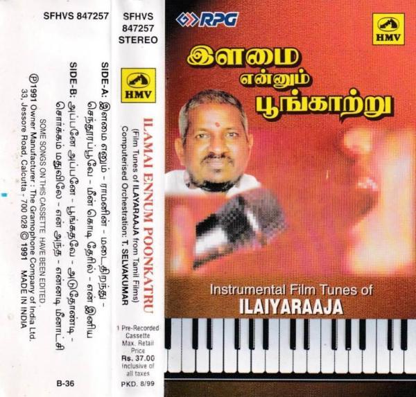 Ilamai Ennum Poongaatre Tamil FIlm hits Audio Cassette by Ilayaraaja www.mossymart.com 1
