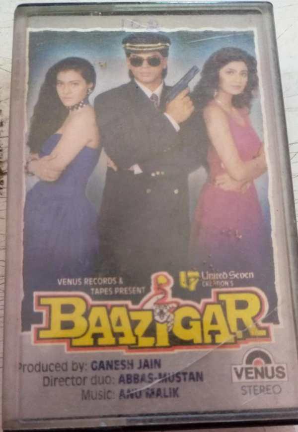Baazigar Hindi Film Audio cassette by Anu Malik www.mossymart.com 1