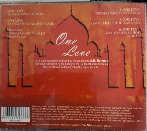 One Love Hindi Film hits Audio CD by AR Rahman www.mossymart.com 1