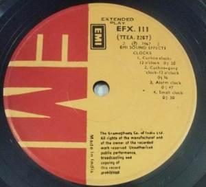 Sound Effects Clocks EP Vinyl Record www.mossymart.com1
