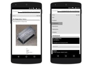 web mòbil fundació marguerida de montferrato captures