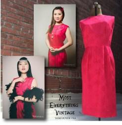 Vintage Pink Silk $50