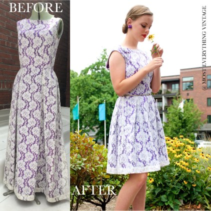 Purple and white lace (Waist 26 in.) $50