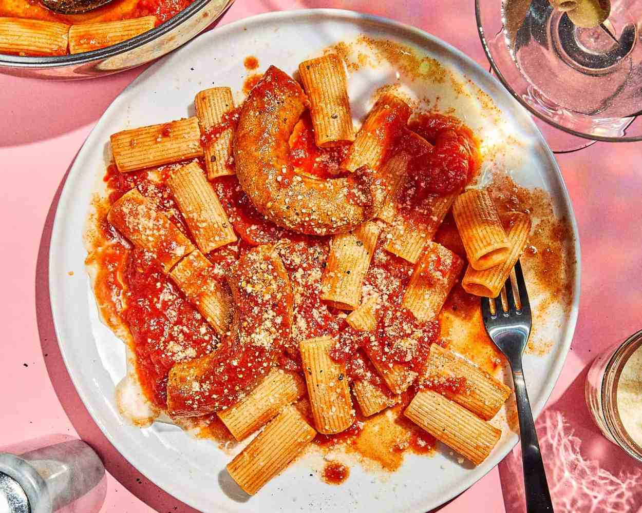 Sausage Red Sauce Rigatoni