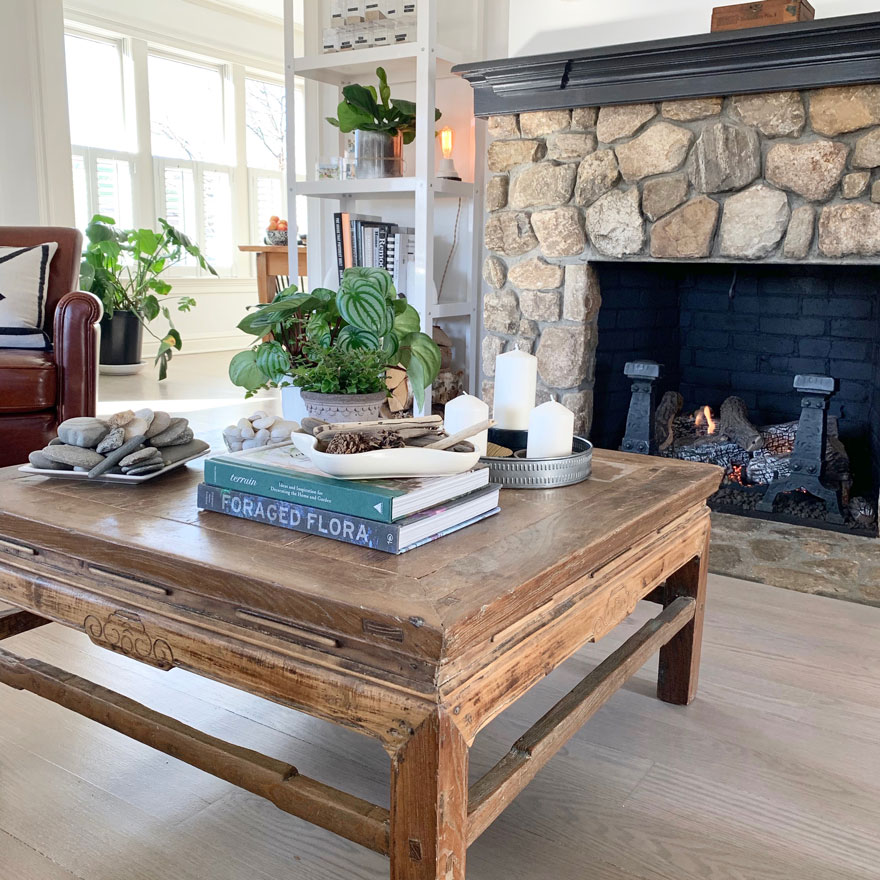project design coffee table styling