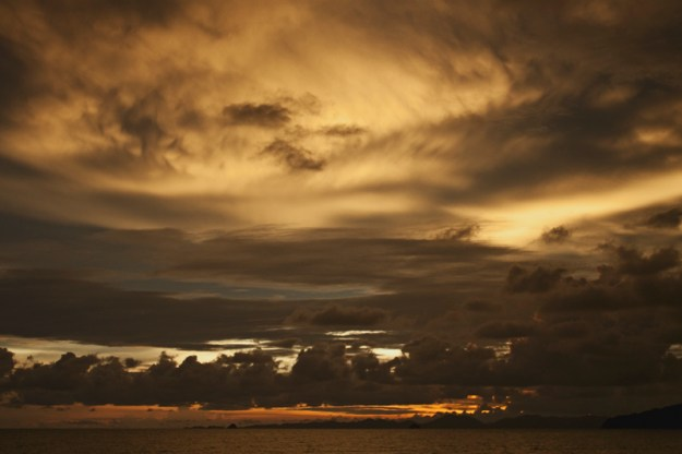 Sunset in Ao Nang Krabi province, Thailand