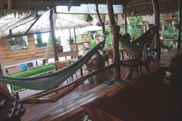 Review of The Sanctuary yoga retreat, spa and detox resort in Haad Tien, Koh Phangan, Thailand. Hill side wooden bungalow in the jungle. The wellness / detox center. Eco resort.