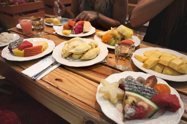 All you can eat fruit buffet at Baiyoke Hotel, Bangkok, Thailand