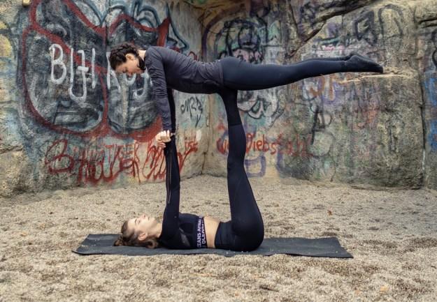 easy acro yoga pose