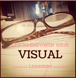 Blog readers who are visual learners learn by looking at graphics.