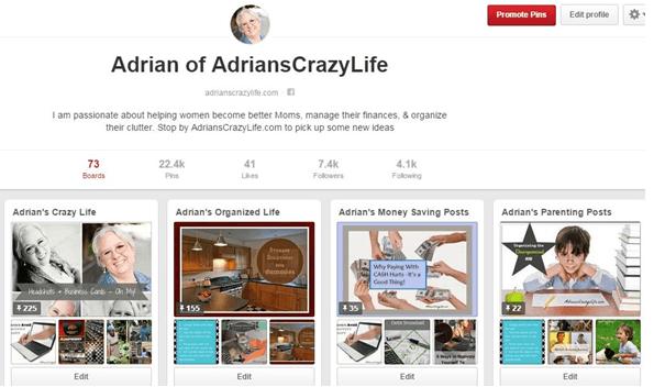 Pinterest board screenshot - Viral Tag