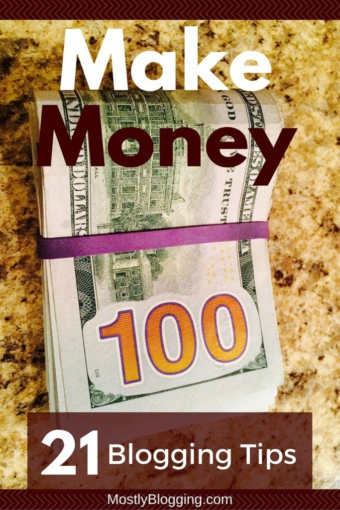 Make money from your #blog