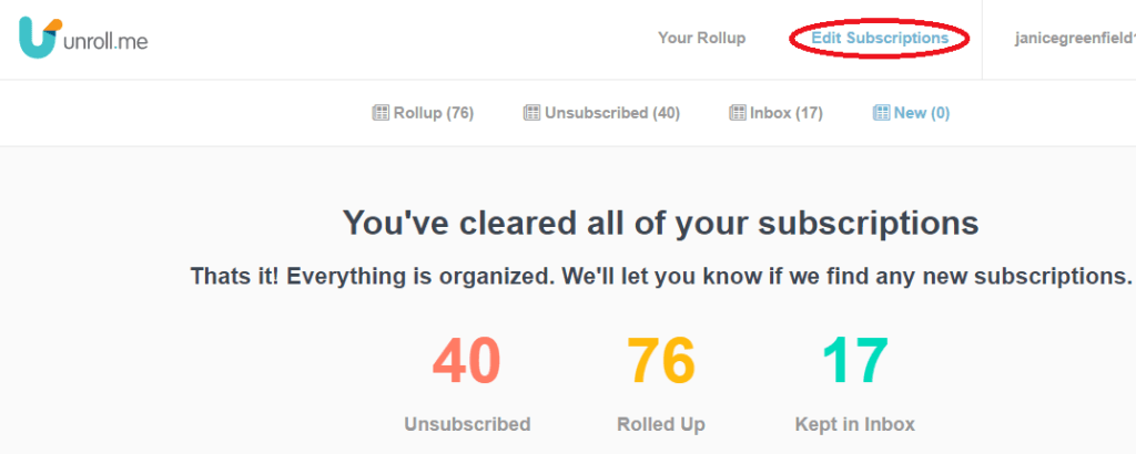 Unroll.me helps reduce Email inbox clutter #bloggers