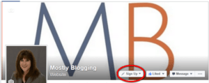 Use a Call to Action on a Facebook page to increase blog stats