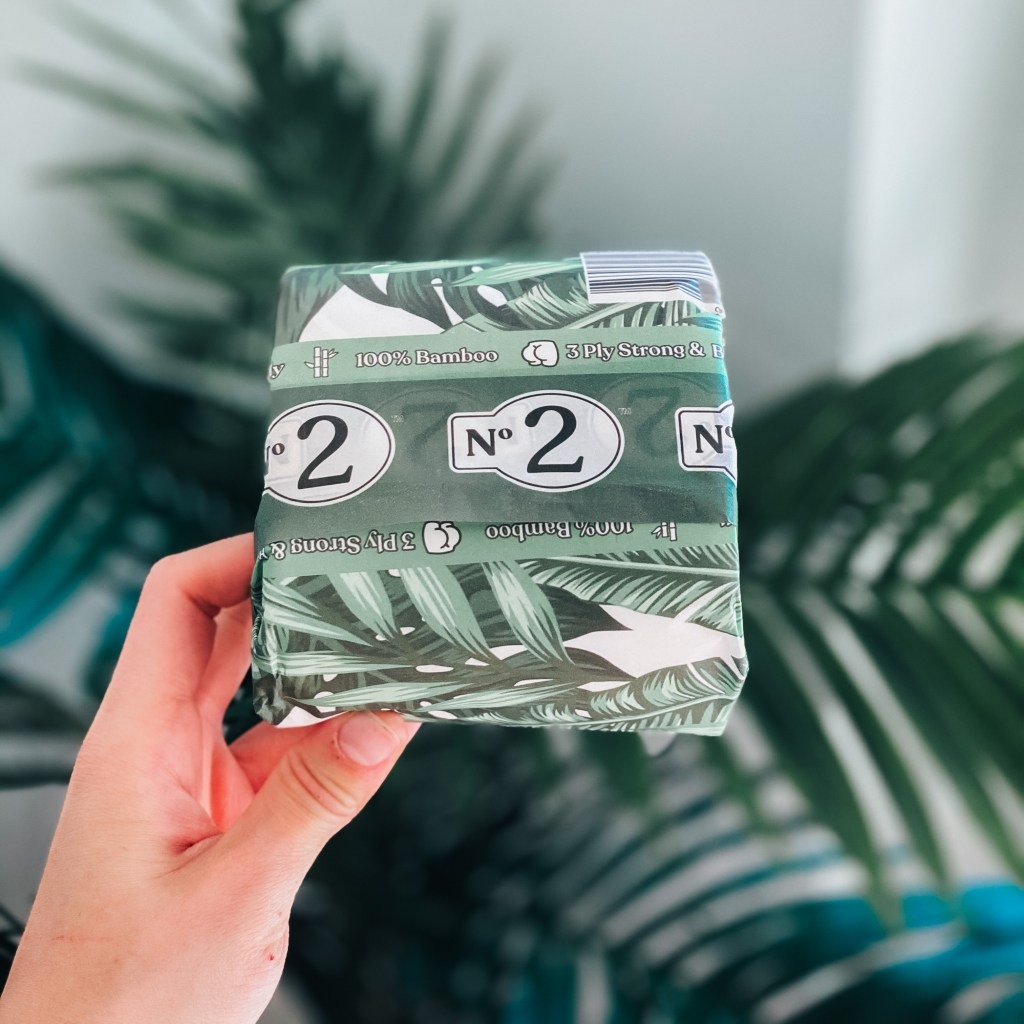 9 Eco-Friendly Toilet Papers for 2021 | Number 2 bamboo toilet paper wrapped in tropical paper