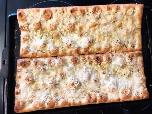 pizza shells cooked