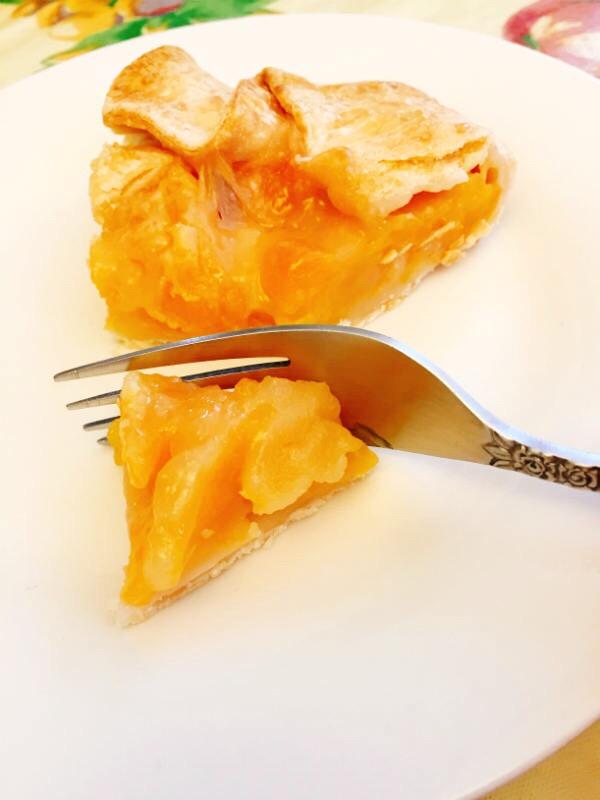 rustic peach pie