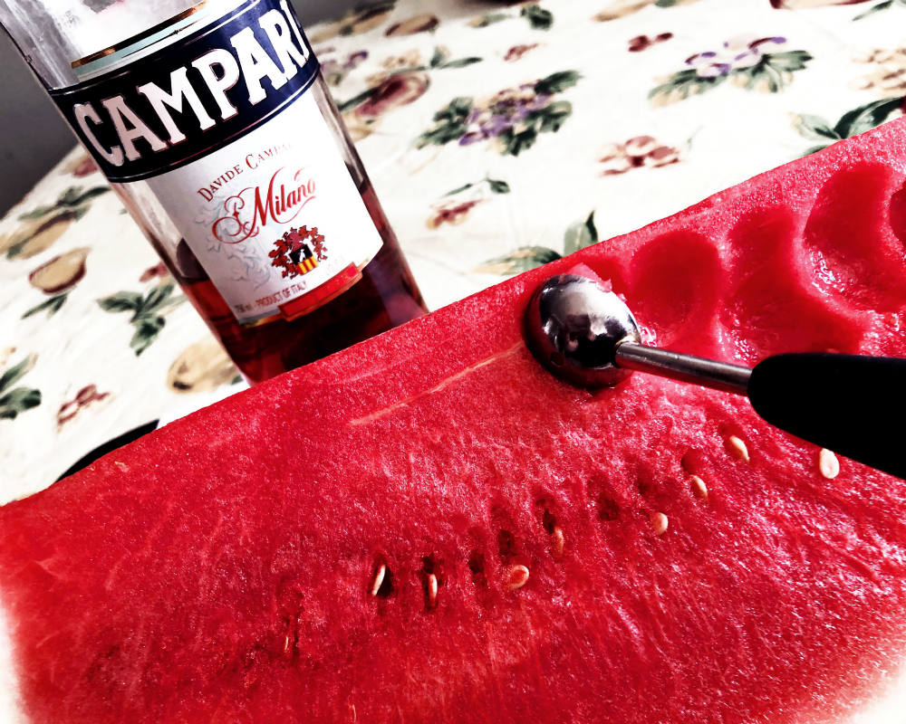 Watermelon with Campari