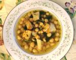 chickpea soup with wild greens