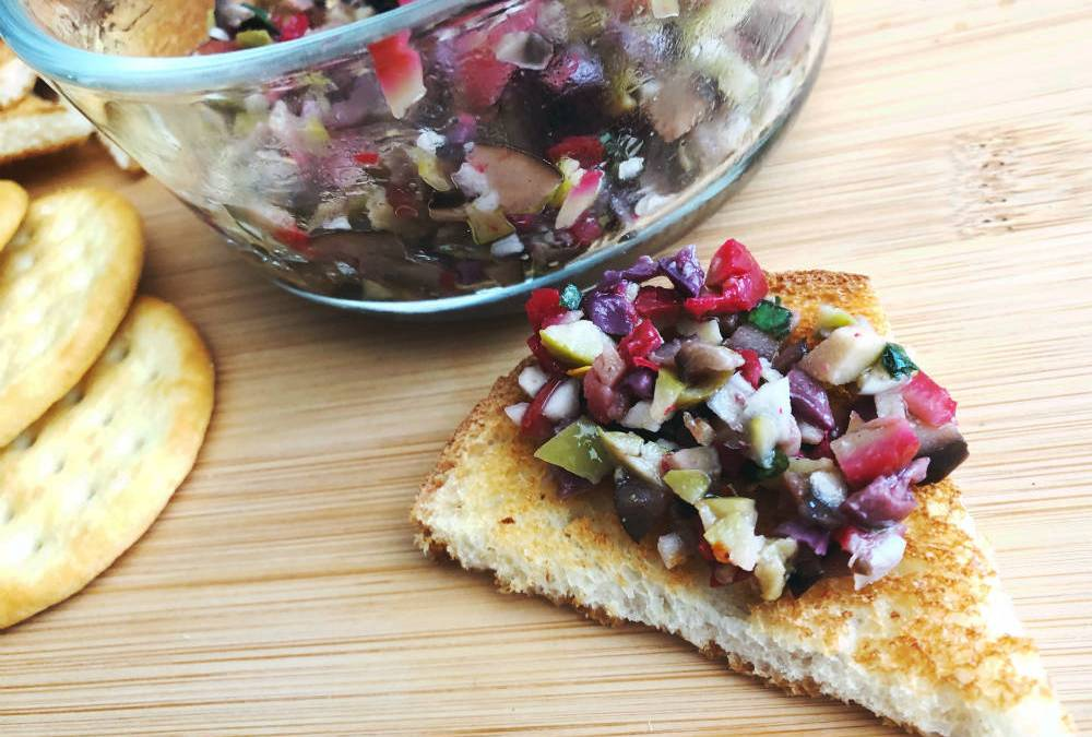 sexy olive tapenade on toast