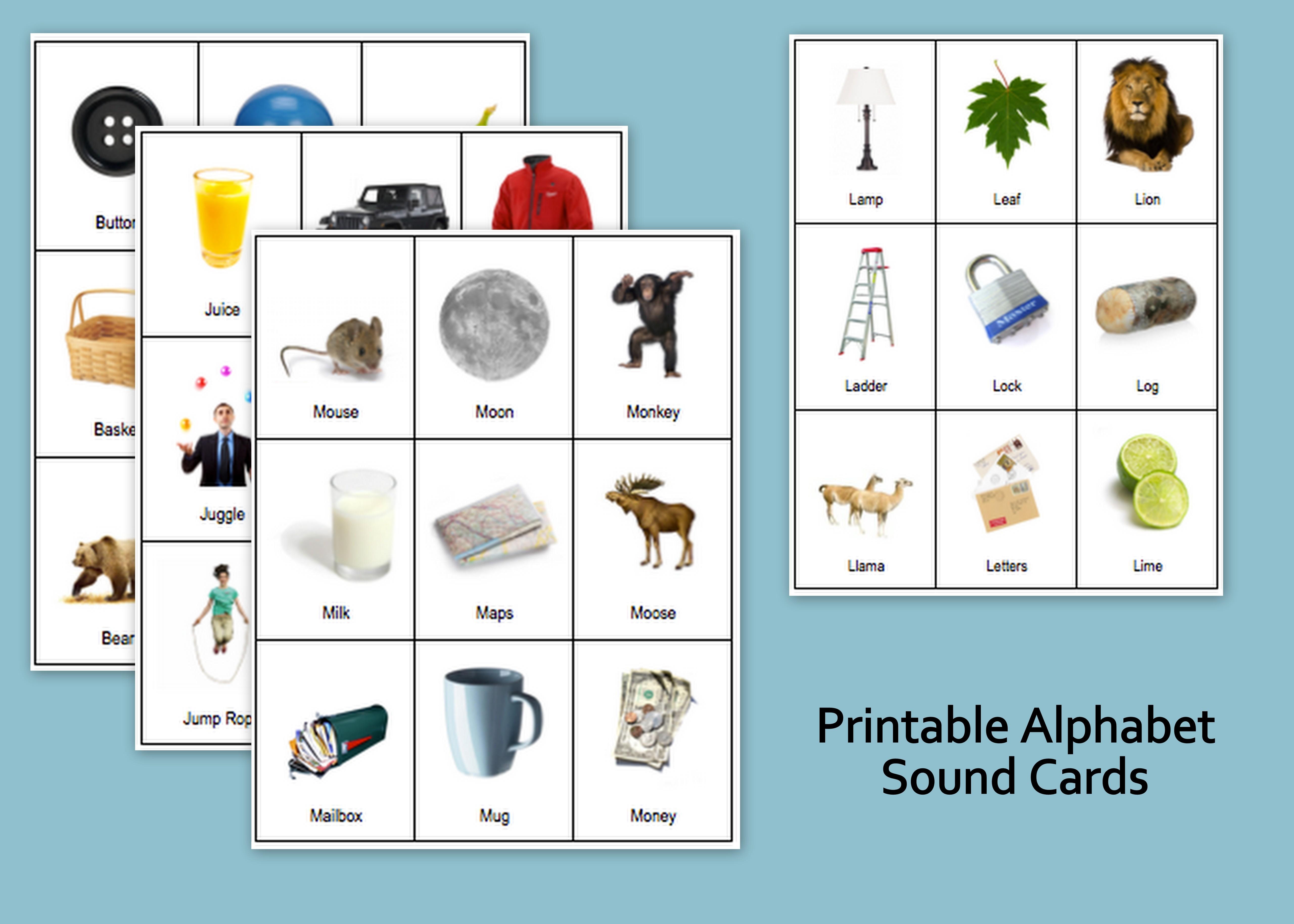 Printable Alphabet Sound Cards
