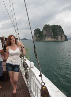 Jen in Ha Long Bay