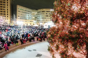 The tree lighting ceremony at 7:45 p.m. is a highlight of the kickoff of the Dayton Holiday Festival.