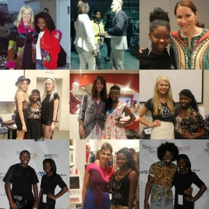 Aceani Michelle pictured with several Fashion Industry Professionals from around the country!