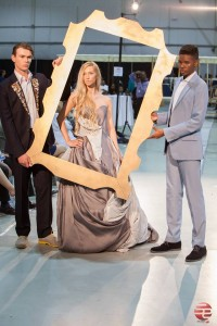 Event: First Flight Now Fashion Designer: Erika Berthy of Gowns by Beartie and Berny Martin of Catou Models L-R Iain Steele, Keilah Jude, and Anthony Jr. Photographer: Lamar Pacley