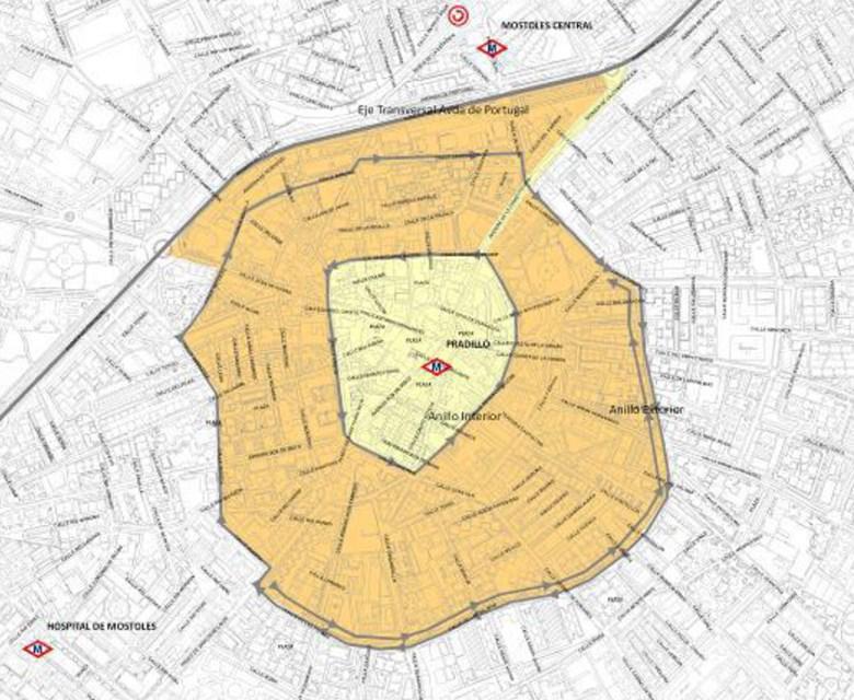 Móstoles ya dispone de un área restringida al tráfico en caso de altos índices de contaminación