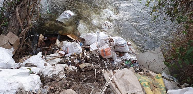 Evitan un intento de vertido ilegal en el río Guadarrama