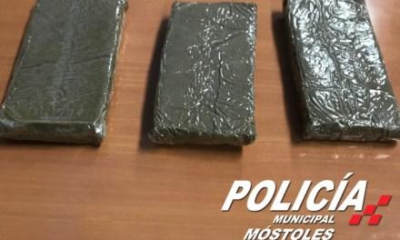 Detenido durante un control preventivo un hombre con varias tabletas de hachís