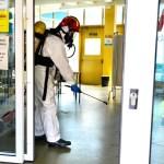 Los bomberos concluyen la desinfección de los centros de salud