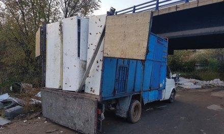 La Policía Municipal frustra el vertido de 18 frigoríficos al río Guadarrama