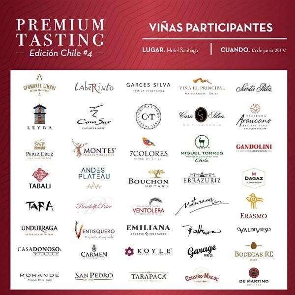 Viñas participantes Premium Tasting Santiago
