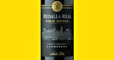 Medalla Real Gold Medal Carmenere 2019 es el nuevo integrante que se viene a sumar a la línea Medalla Real de la viña Santa Rita