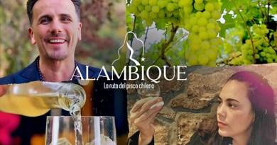 """Bajo el nombre de """"Alambique"""" debutó el domingo pasado por las pantallas de 13C un nuevo programa dedicado al pisco chileno."""