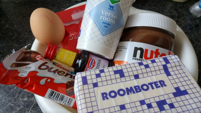Nutella Bueno dessert-ingrediënts