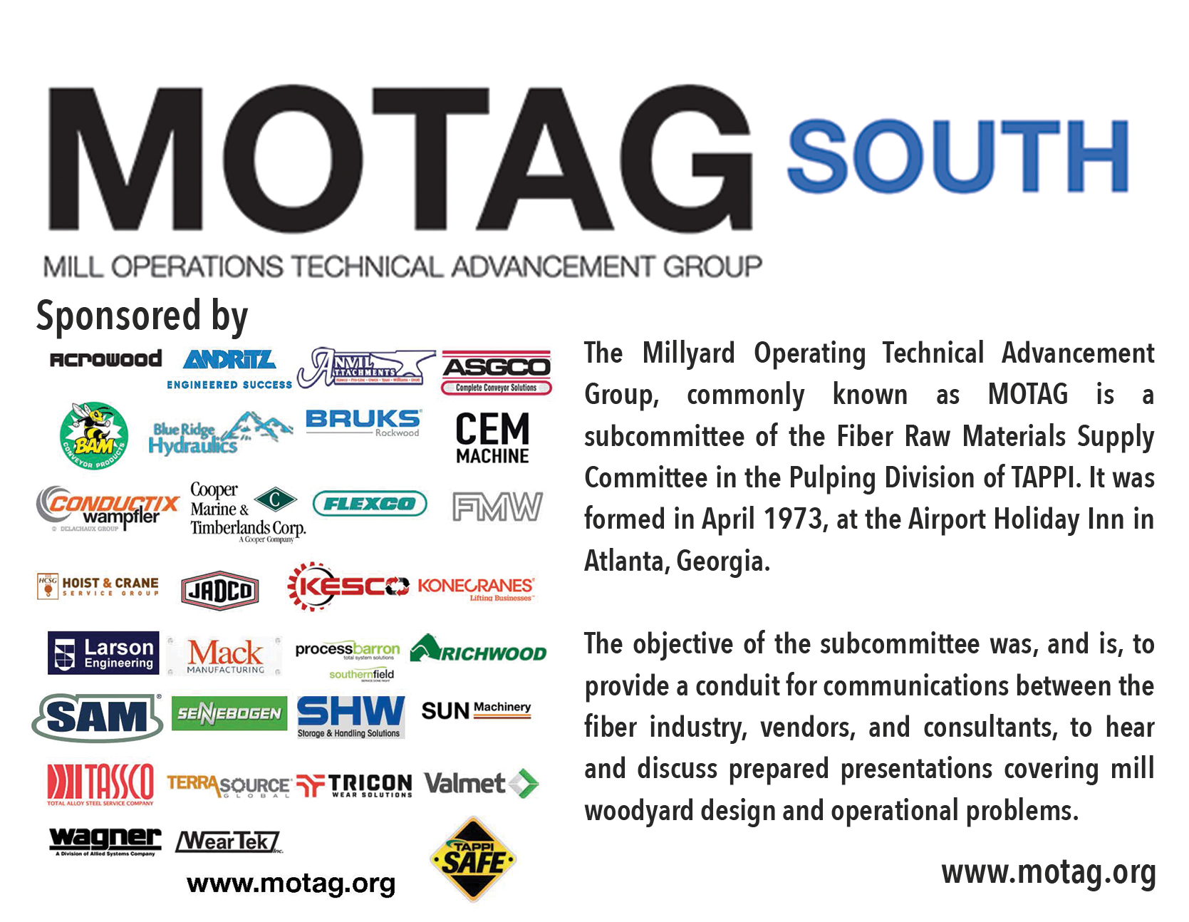 MOTAG SOUTH SPONSORS 2019 - POST CARD SIDE 2